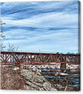 Great Falls Rr Bridge 10477c Canvas Print