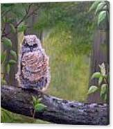 Great Horned Owlette Canvas Print