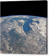 Great Lakes From Space Canvas Print