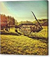 Great Photo Of Some Old #farm Tools Canvas Print