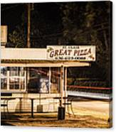 Great Pizza Canvas Print