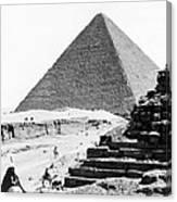 Great Pyramid Of Giza - Egypt - C 1926 Canvas Print