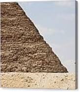 Great Pyramid Of Khufu Cheops And Camel Canvas Print