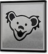 Greatful Dead Dancing Bear In Black And White Canvas Print