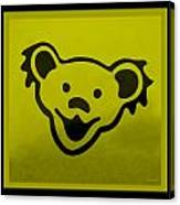 Greatful Dead Dancing Bear In Yellow Canvas Print