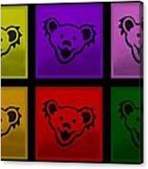 Greatful Dead Dancing Bears In Multi Colors Canvas Print