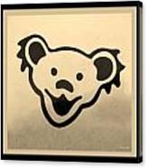 Greatful Dead Dancing Bears In Sepia Canvas Print