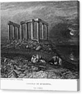 Greece: Cape Sounion, 1832 Canvas Print