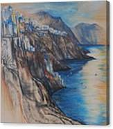 Greek Coast Canvas Print