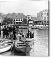 Greek Immigrants Fleeing Patras Greece - America Bound - C 1910 Canvas Print