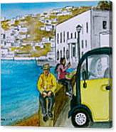 Greek Island Of Mykonis Canvas Print