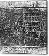 Greek Multiplication Table Canvas Print