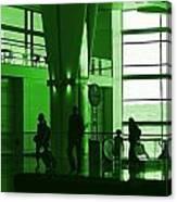 Green Airport Canvas Print