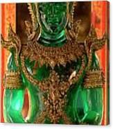 Green Buddha Canvas Print