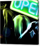 Green Butt Canvas Print
