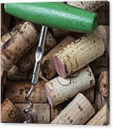 Green Corkscrew Canvas Print