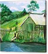 Green Cottage Canvas Print