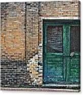 Green Doors Canvas Print