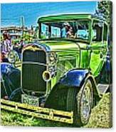 Green Ford Street Rod Hdr Canvas Print