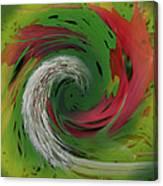 Green Funnel Canvas Print