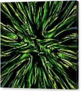Green Garden Abstract Canvas Print