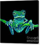 Green Ghost Frog Canvas Print