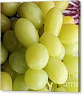 Green Grapes And Purple Mum Canvas Print