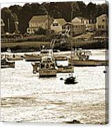 Green Harbor At Low Tide Canvas Print