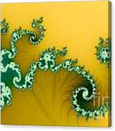 Green In The Yellow Canvas Print