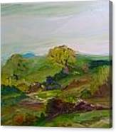Green Land Canvas Print
