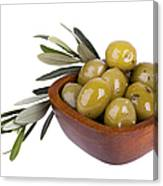 Green Olives Canvas Print