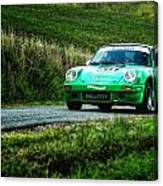 Green Porsche Canvas Print