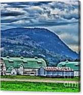 Green Roofed Barn-hdr Canvas Print