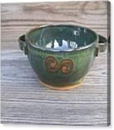 Green Soup Bowl Canvas Print