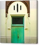 Green Spanish Doors Canvas Print