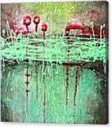 Green Splashes Canvas Print