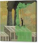Greenwashing Canvas Print