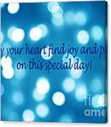Greeting Card Blue With White Lights Canvas Print