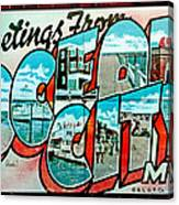Greetings From Oc Canvas Print