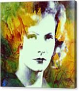 Greta Garbo Abstract Pop Art Canvas Print