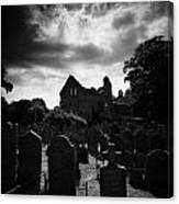 Greyabbey Abbey And Graveyard Cemetary County Down Ireland Canvas Print