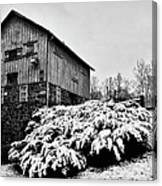 Grist Mill In Winter - Hdr Canvas Print