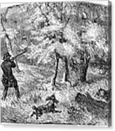 Grouse Hunting, 1855 Canvas Print