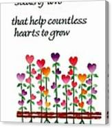 Growing Hearts Canvas Print