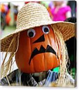 Grumpy Pumpkin Canvas Print