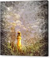 Grunge Light House Canvas Print