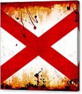 Grunge Style Alabama Flag Canvas Print