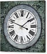 Grungy Clock Canvas Print