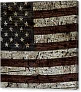 Grungy Wooden Textured Usa Flag2 Canvas Print