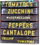 Guaranteed Farm Fresh Foods  Canvas Print